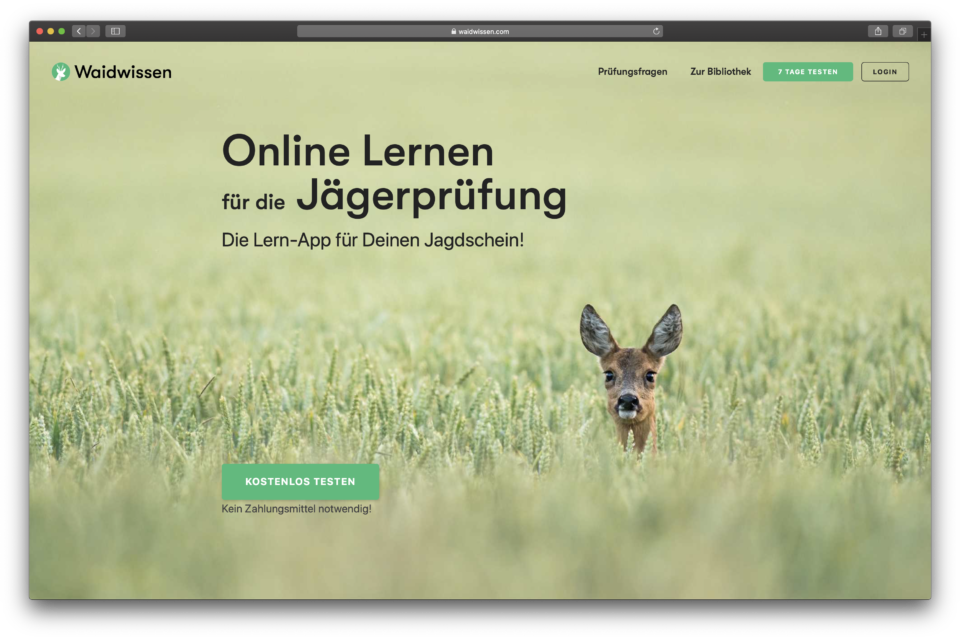 Online Lernen für die Jägerprüfung